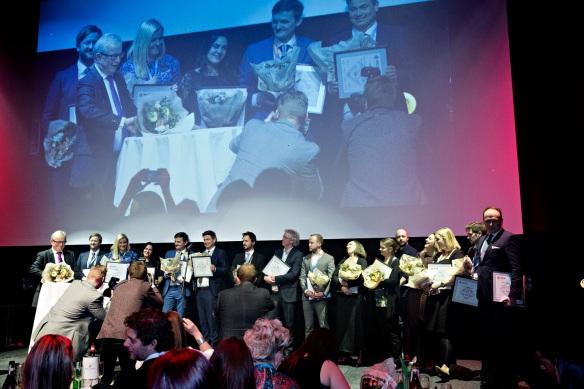 DIPLOMVINNERE:  Fem prosjekter fikk SKUP-diplom på årets mønstring av beste undersøkende journalistikk. Foto: MARTE CHRISTENSEN, NTB/Scanpix