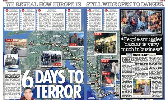 BLØFF-REISEN: Reportasjen «6 DAYS TO TERROR» i skandaleavisen The Sun vakte stor oppsikt, men viste seg å bygge på en oppdiktet historie